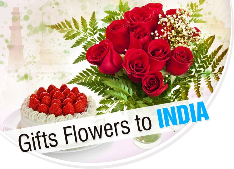 Gifts flowers to India